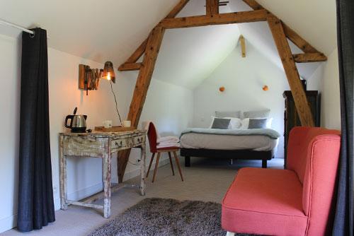 Des chambres romantiques, cocooning, et zen.